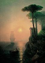 Туманное утро в Италии :: Айвазовский Иван Константинович, 1864 г.