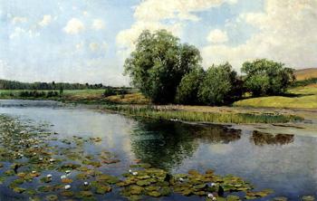 Речка в полдень :: Остроухов Илья Семёнович, 1892 г.