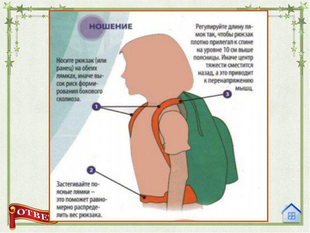 5. Как правильно носить и собирать школьный рюкзак?