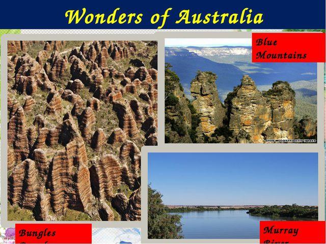 Wonders of Australia Blue Mountains Bungles Bungles Murray River