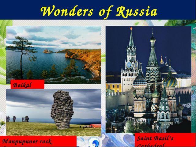 Wonders of Russia Baikal Lake Saint Basil's Cathedral Manpupuner rock formati...