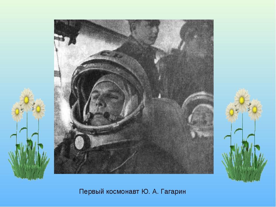 Первый космонавт Ю. А. Гагарин