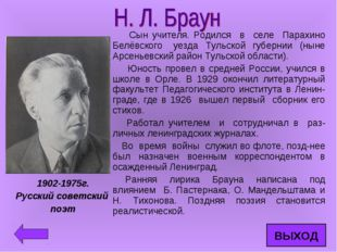 Сын учителя. Родился в селе Парахино Белёвского уезда Тульской губернии (нын