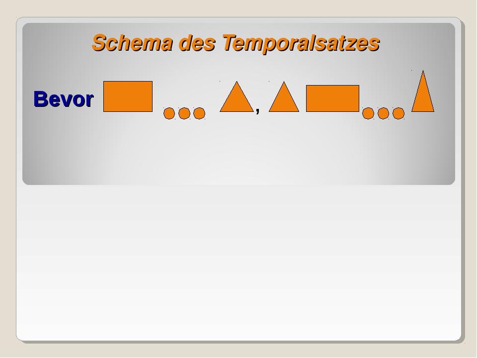 Schema des Temporalsatzes Bevor ,