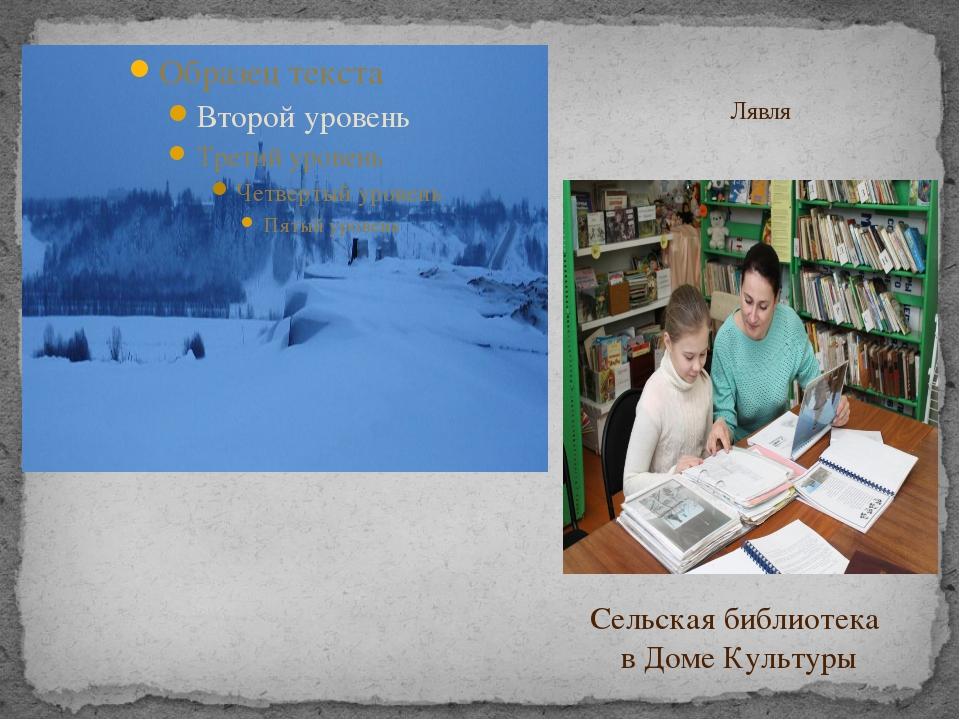 Лявля Сельская библиотека в Доме Культуры