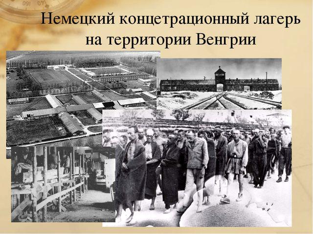 Немецкий концетрационный лагерь на территории Венгрии