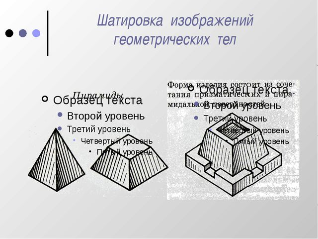 Шатировка изображений геометрических тел