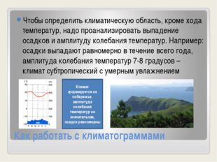 Как работать с климатограммами Чтобы определить климатическую область, кроме