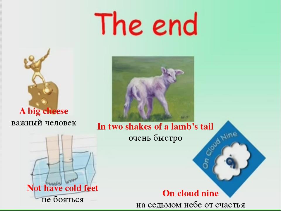 T On cloud nine на седьмом небе от счастья In two shakes of a lamb's tail оче...