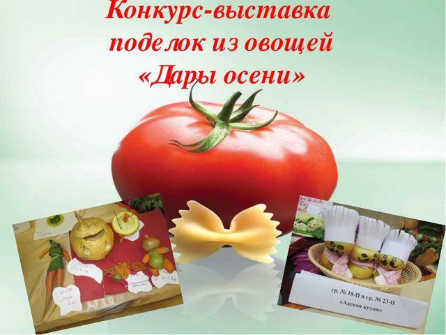 Конкурс-выставка поделок из овощей «Дары осени»
