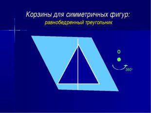 Корзины для симметричных фигур: равнобедренный треугольник О 360о