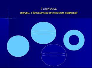 4 корзина: фигуры, с бесконечным множеством симметрий