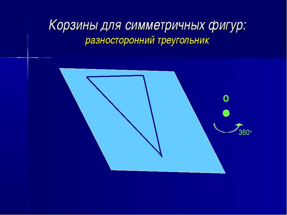 Корзины для симметричных фигур: разносторонний треугольник О 360о