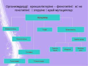 Организмдердің ерекшеліктеріне – фенотипінің және генотипінің өзгеруіне қарай