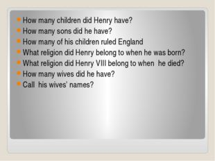 How many children did Henry have? How many sons did he have? How many of his