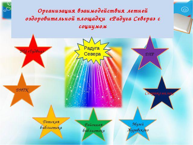 Организация взаимодействия летней оздоровительной площадки «Радуга Севера» с...