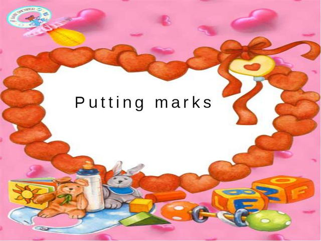 Putting marks