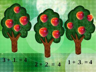 3 + … = 4 2 + … = 4 1 + … = 4 1 2 3