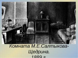 Комната М.Е.Салтыкова-Щедрина. 1889 г.