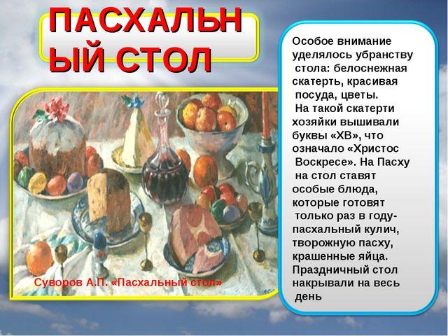 Суворов А.П. «Пасхальный стол»