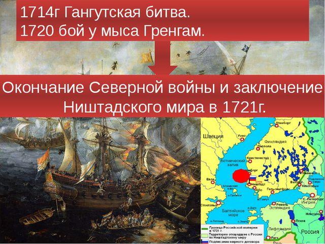 1714г Гангутская битва. 1720 бой у мыса Гренгам. Окончание Северной войны и...