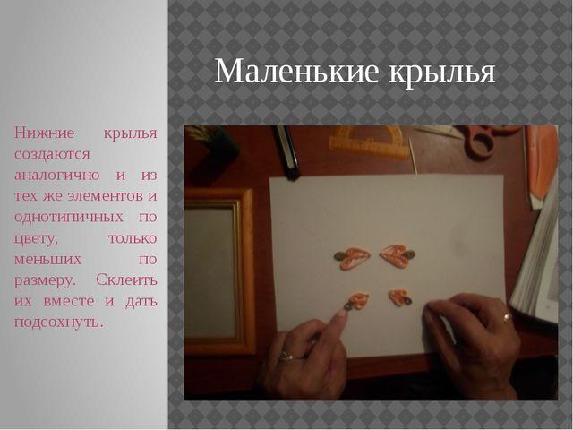 Маленькие крылья Нижние крылья создаются аналогично и из тех же элементов и о...