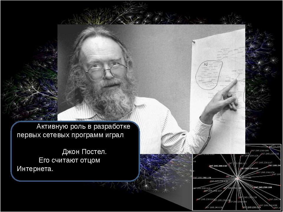 История развития сети Активную роль в разработке первых сетевых программ игра...