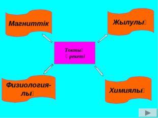 Токтың әрекеті Физиология- лық Магниттік Химиялық Жылулық