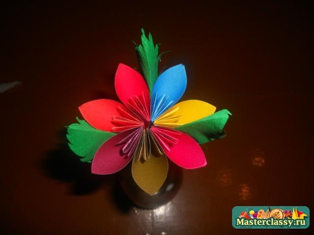 Оригами цветы мастер класс семицветик