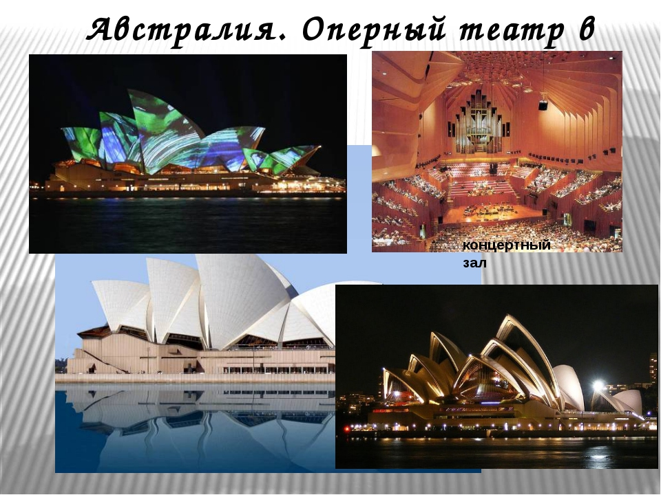 Австралия. Оперный театр в Сиднее концертный зал