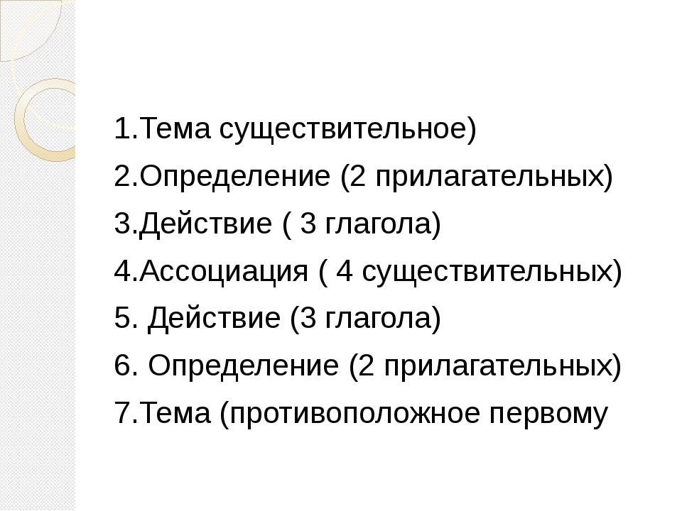 1.Тема существительное) 2.Определение (2 прилагательных) 3.Действие ( 3 глаг...