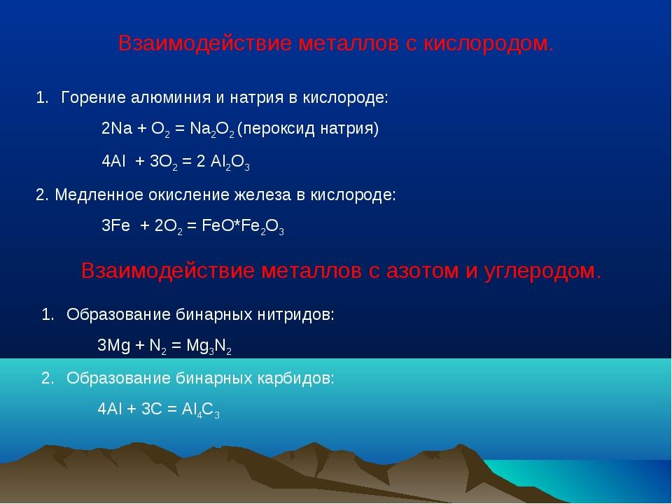 Взаимодействие металлов с кислородом. Горение алюминия и натрия в кислороде:...