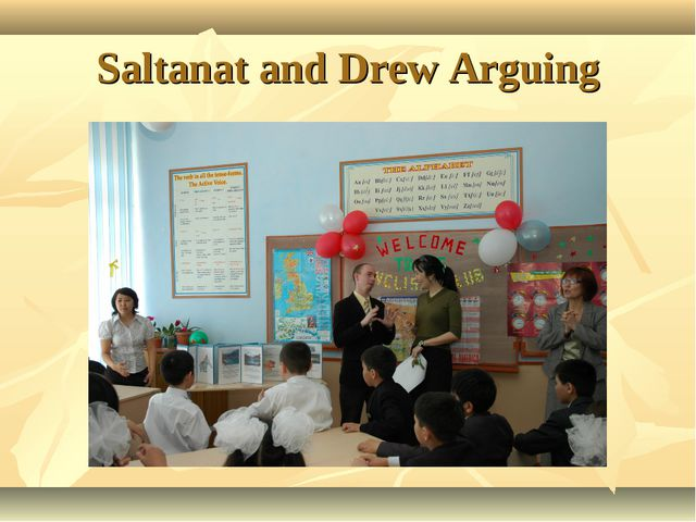 Saltanat and Drew Arguing
