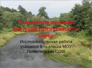 Этимология названий растений Прямухинского парка Исследовательская работа уча