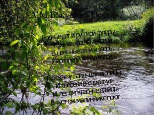 А.М.Бакунин «Осуга». Родные дети русской флоры – Черемха, розан лесовой В цве