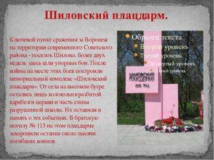 Ключевой пункт сражения за Воронеж на территории современного Советского райо