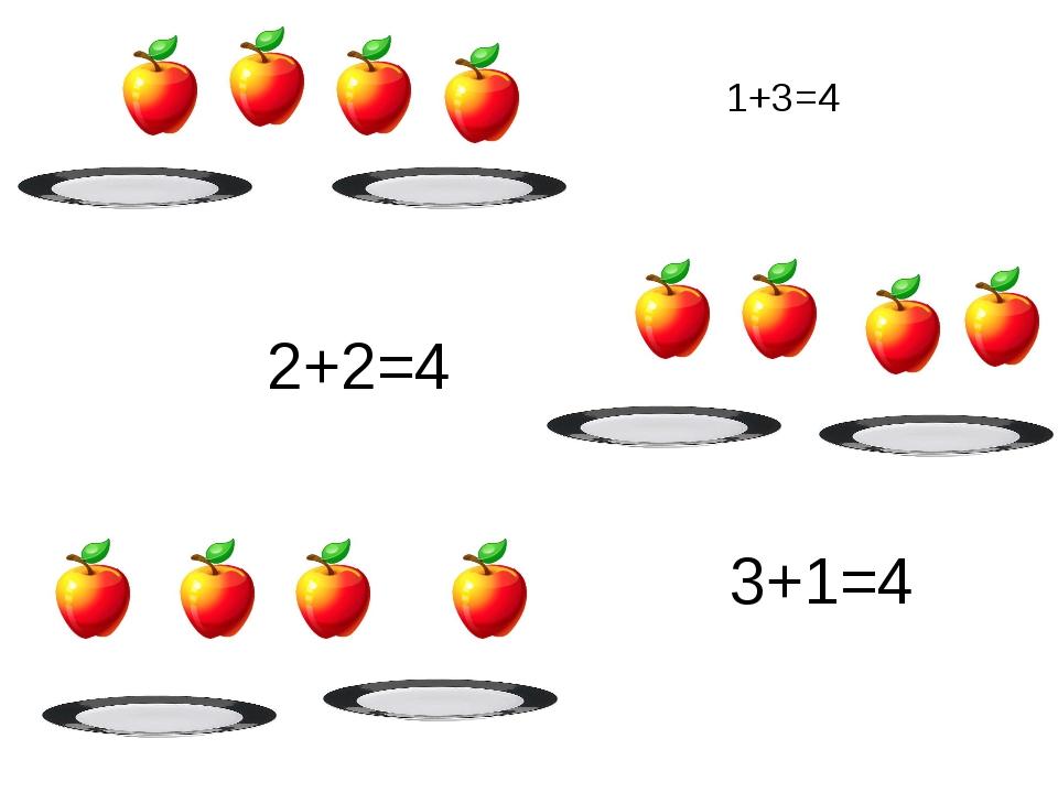 1+3=4 2+2=4 3+1=4
