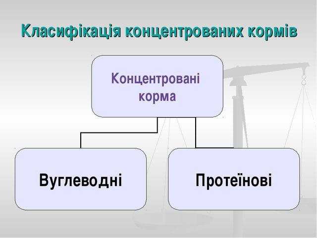 Класифікація концентрованих кормів