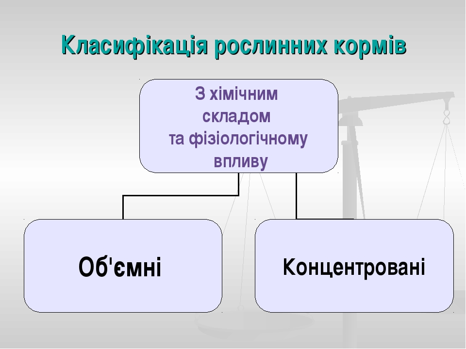Класифікація рослинних кормів