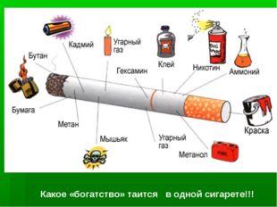 Какое «богатство» таится в одной сигарете!!!