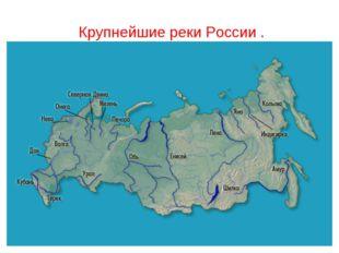 Крупнейшие реки России .