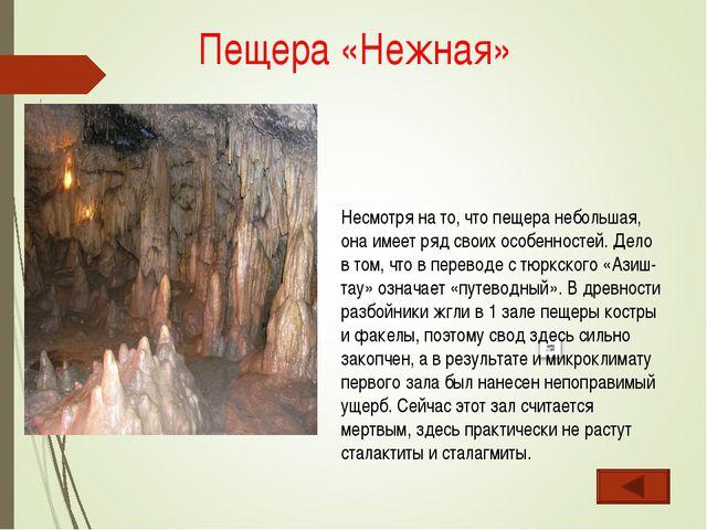 Несмотря на то, что пещера небольшая, она имеет ряд своих особенностей. Дело...