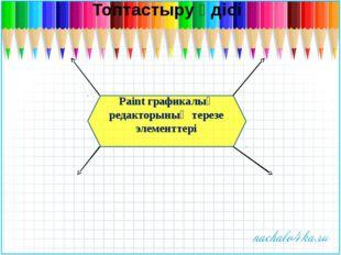 Paint графикалық редакторының терезе элементтері Топтастыру әдісі
