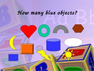 How many blue objects?