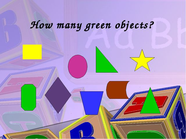 How many green objects?