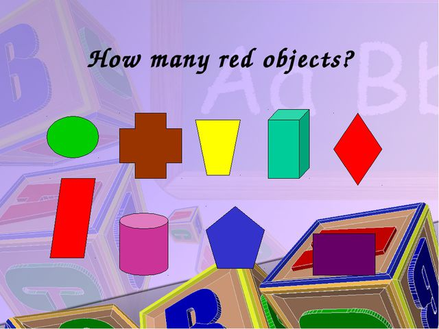 How many red objects?