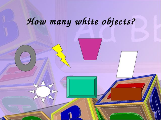 How many white objects?