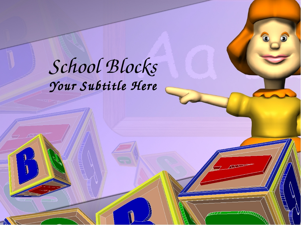 School Blocks Your Subtitle Here