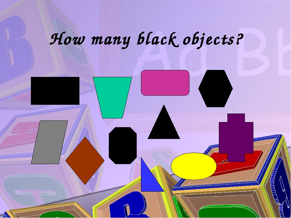 How many black objects?