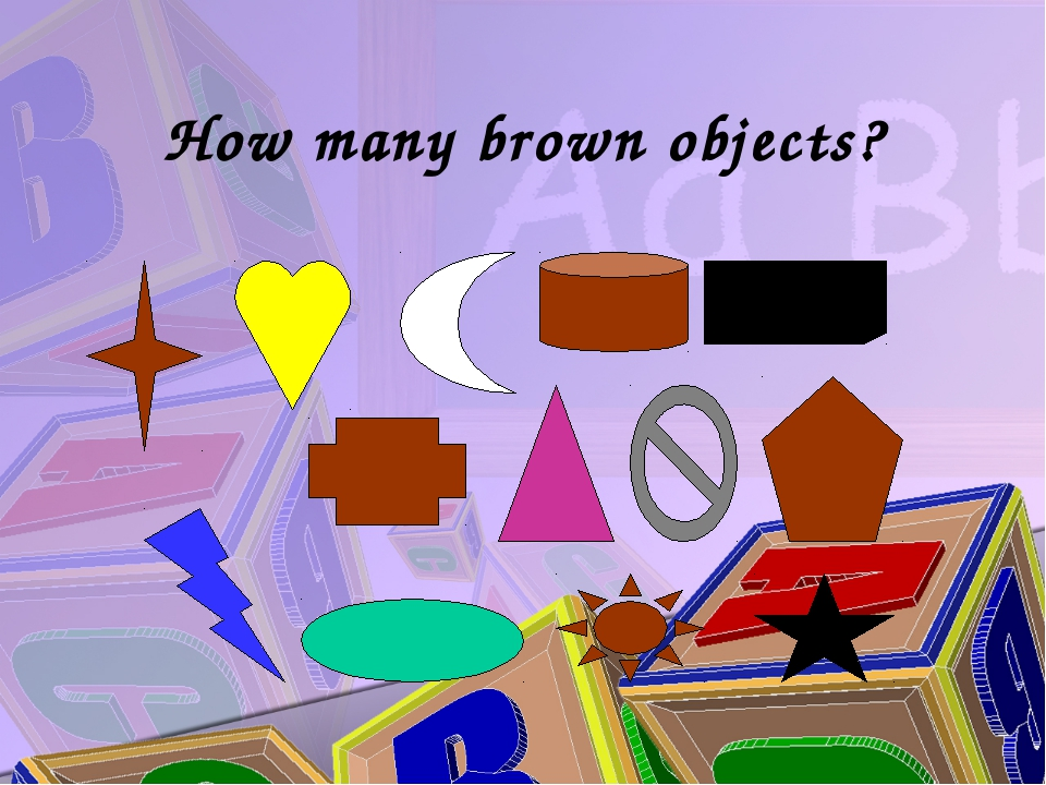How many brown objects?